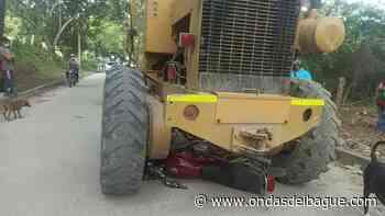 Motociclista murió arrollado por una motoniveladora en el Guamo - Ondas de Ibagué