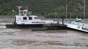 Hochwasser bremst Autofähre auf dem Rhein aus - SWR