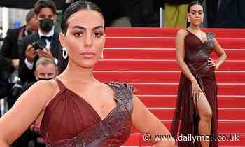 Georgina Rodriguez flaunts her toned pins the premiere of France during the Cannes Film Festival - Daily Mail