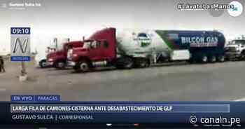 Abastecimiento de GLP ocasiona largas filas de camiones en Paracas - Canal N