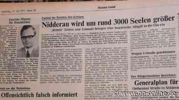 Nidderau: Vor 50 Jahren beschlossen die Gemeinden Erbstadt und Eichen die Fusion mit der Stadt Nidderau - op-online.de