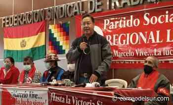 """Arce: """"No descansaremos hasta encontrar los restos de Marcelo Quiroga Santa Cruz"""" - Correo del Sur"""