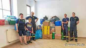 Feuerwehr und Flurstedt sammeln Spenden für Flutopfer - Thüringische Landeszeitung