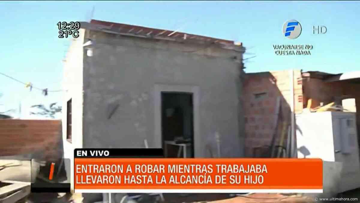 Delincuentes vaciaron una vivienda en Capiatá - ÚltimaHora.com