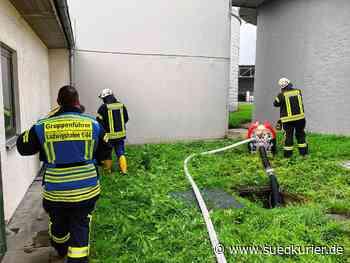 Bodman-Ludwigshafen: Bilder vom Feuerwehreinsatz wegen Hochwasser in der Kläranlage zwischen Espasingen und Bodman - SÜDKURIER Online