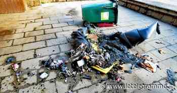 Des poubelles incendiées à Plougastel-Daoulas dans la nuit - Le Télégramme