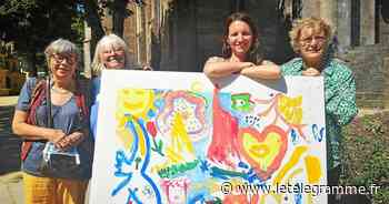 À Plougastel-Daoulas, les artistes animent le marché - Le Télégramme