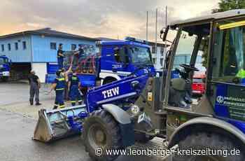 Hochwasser-Gebiet: Leonberger Helfer sind im Einsatz - Leonberger Kreiszeitung - Leonberger Kreiszeitung