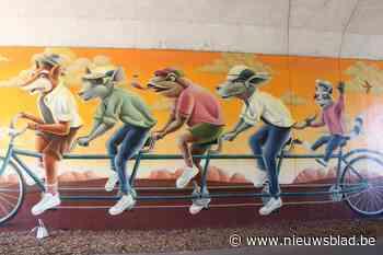 Grootste muurschildering van Limburg op één van de drukste fietsknooppunten 'Fietsen door een schilderij' geopend in Zonhoven