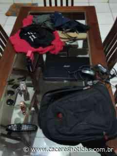 Suspeito de furtar residência em Mirassol D'Oeste é preso em flagrante pela Polícia Civil - Cáceres Noticias