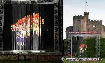 'The Lion' multidimensional artwork goes on display in Cardiff in support of Warren Gatland's side