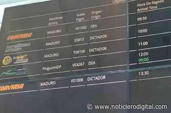 """Un detenido por hackear pantalla de aeropuerto de Porlamar y colocar """"Maduro dictador"""" - Noticiero Digital"""