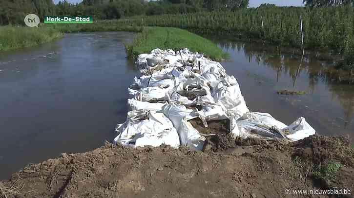 Gevaar voor overstromingen nog niet geweken in Herk-de-Stad