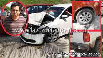 Ebrio profesor provoca fuerte accidente; fue detenido - La Voz De Tantoyuca