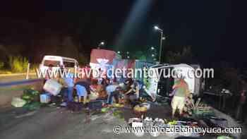 18/07/2021 Comerciantes se accidentan en el Bulevar Central - La Voz De Tantoyuca