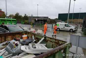 Wegenwerken blokkeren recyclagepark - Gazet van Antwerpen