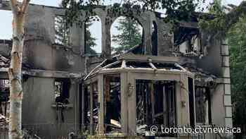 No injuries after large fire destroys house in Thornhill - CTV Toronto