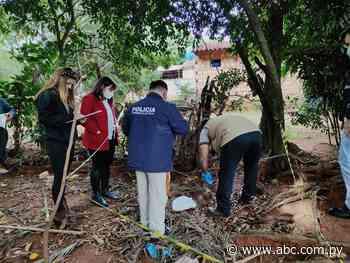 Hallan restos de un feto arrojado en baldío de Itauguá - Nacionales - ABC Color