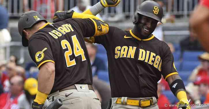 Padres split pair of Sunday decisions following postponement
