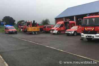 """Meetjeslandse brandweer steekt handen uit de mouwen in overstroomd Luik: """"Het lijkt wel een oorlogszone"""""""