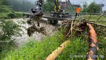 Gebirgsbach in Oberstdorf: Wasser kann abfließen - t-online.de