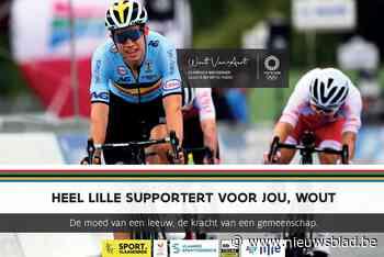 Lille en Herentals moedigen Wout van Aert met affiches aan