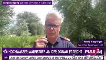 "Feuerwehrsprecher Resperger: ""Notrufe kamen im Minutentakt"" - PULS 24"