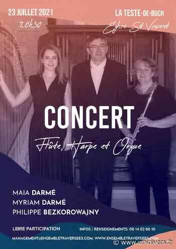Concert en trio flûte, harpe et orgue La Teste-de-Buch vendredi 23 juillet 2021 - Unidivers