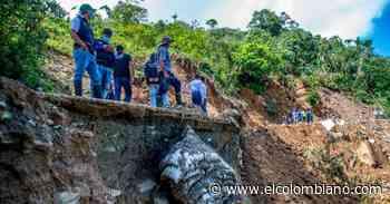 En Briceño las lluvias se llevaron la carretera - El Colombiano