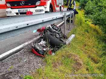 Bonndorf: Bei einem Unfall bei Bonndorf hat sich ein Motorradfahrer schwer verletzt - SÜDKURIER Online