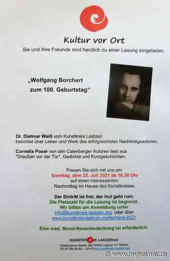 Lesung: Wolfgang Borchert zum 100. Geburtstag - Laatzen - myheimat.de