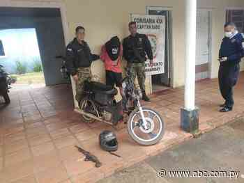 Policías de Capitán Bado sacan de circulación a un supuesto asaltante - Nacionales - ABC Color