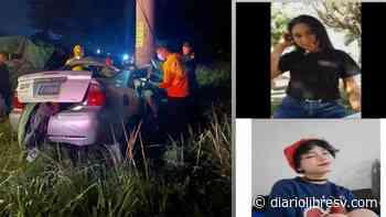 Dos jovencitas pierden la vida tras accidente en Ciudad Arce - Diario Libre
