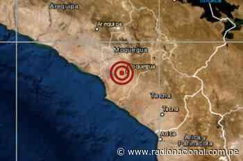 IGP reportó un sismo de 4.3 de magnitud en Moquegua - Radio Nacional del Perú
