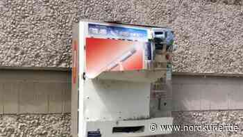 Unbekannte knacken Zigarettenautomat im Kulturpark - Nordkurier