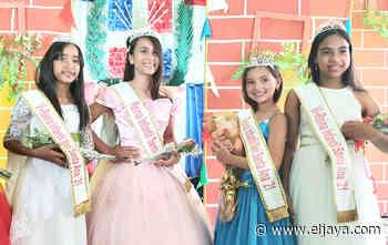 Escogen las reinas y virreinas infantiles Santa Ana 2021 - El Jaya