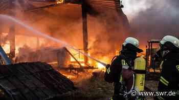 Brand auf Bauernhof bei Gerstetten-Sontbergen - SWR
