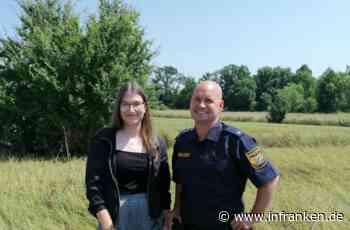 Höchstadt an der Aisch: Er rettete sie vor dem Ertrinken: emotionales Wiedersehen von Flutopfer (18) und Polizisten