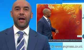 'Can I get some support?' Alex Beresford scrambles as GMB weather report hit by errors - Express