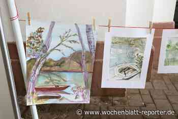 Abschlussveranstaltung der 17. Pfälzischen Malwoche in Germersheim: Mit dem Skizzenblock auf dem Althrein - Germersheim - Wochenblatt-Reporter