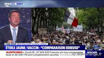 """Manifestation anti-vaccins: le maire de Poissy Karl Olive appelle à ce que la députée Martine Wonner """"se fasse virer"""" - Actu Orange"""