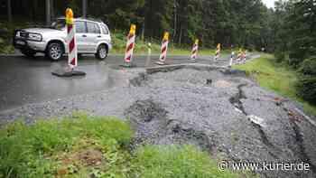Erdrutschgefahr: Straße Cottenbach-Theta muss komplett gesperrt werden - Nordbayerischer Kurier - Nordbayerischer Kurier