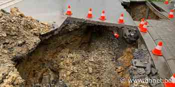 Une partie de la rue des Sorbiers s'effondre à Ciney - dh.be