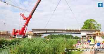 BAu der Bahnumfahrung Sande: Brückenschlag über den Ems-Jade-Kanal - Nordwest-Zeitung