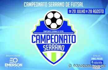 Itabaiana: Campeonato Serrano de Futsal Amador estreia nesta terça-feira, 20 - 93Notícias