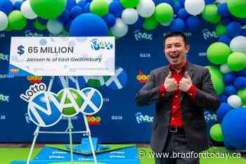 'This is a huge blessing:' East Gwillimbury man wins massive $65M jackpot - BradfordToday