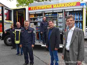 Markdorf: Feuerwehr modernisiert Fuhrpark mit zwei neuen Löschfahrzeugen für 750.000 Euro - SÜDKURIER Online