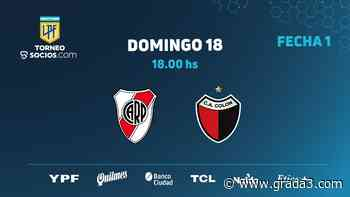 River se mide ante el Campeón en el destacado de la Primera Fecha del Torneo de Primera Argentino - Grada3.COM