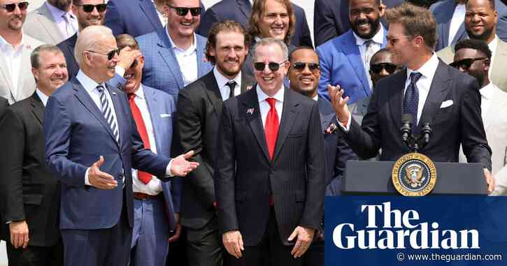 'You understand that?': Tom Brady jokes with Biden over Trump's false election claims – video