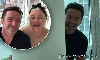 Hugh Jackman gets competitive with wife Deborra-Lee Furness at home in New York - Daily Mail